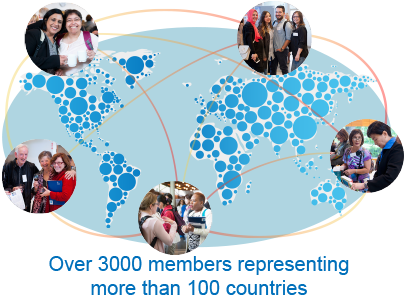 Over 3000 members in more than 100 countries.