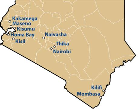 Kenya projects map