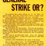IWW leaflet calls for all workers to join the General Strike