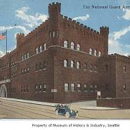 Armory where Army units from Fort Lewis mobilized