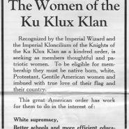 """The Women of the Ku Klux Klan"" ad"