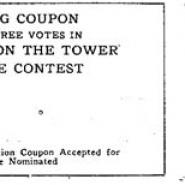 """Watcher on the Tower Automobile Prize Contest"" coupons"