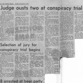 Selection of jury for conspiracy trial begins, Seattle Times,11-23-1970