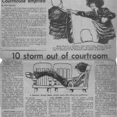 Courthouse Emptied, 10 Storm Out Of Courtroom, 11/25/1970 pt. 1