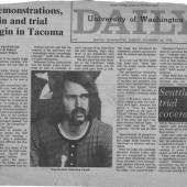 Demonstrations Rain And Trial Begin In Tacoma, UW Daily, 11/24/1970
