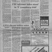 FBI Informer Takes Stand In 8 Conspiracy Trial, UW Daily, 12/3/1970