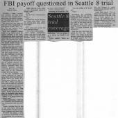 FBI Pay Off Questioned In Seattle 8 Trial, 12/8/1970