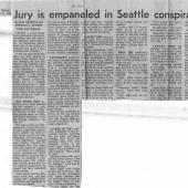 Jury Is Empaneled In Seattle Conspiracy Trial, Seattle Times, 11/26/1970