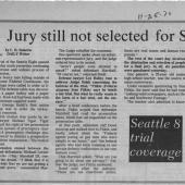 Jury Still Not Selected For Seattle 8, 11/25/1970