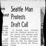 Seattle Man Protests Draft Call