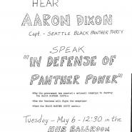 Hear Aaron Dixon Speak in Defense of Panther Power