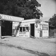 Shacktown grocery store and filling station, typical of many such small enterprises in new community (Sumac Park).