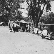 "Camp of migratory families in ""Ramblers Park."""