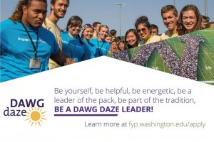 Become a DAWG DAZE leader!