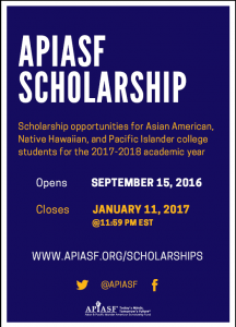 The APIASF General Scholarship Application is now available!