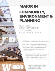 Major in Community, Environment & Planning