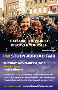 UW Study Abroad Fair – Tuesday, Nov. 8th