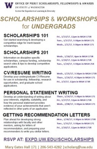 Scholarships and workshops for undergrads!