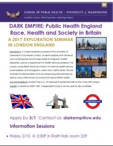 Dark Empire: Race, Health & Society in Britain – exploration seminar summer 2017