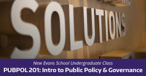 Intro to Public Policy and Governance – spring qrt class!