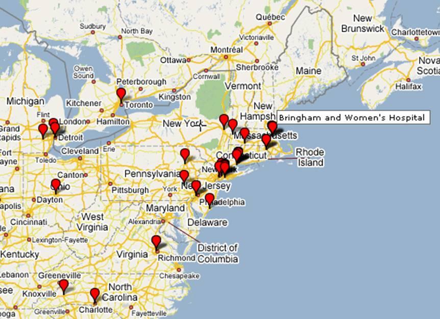 MDX Client Map