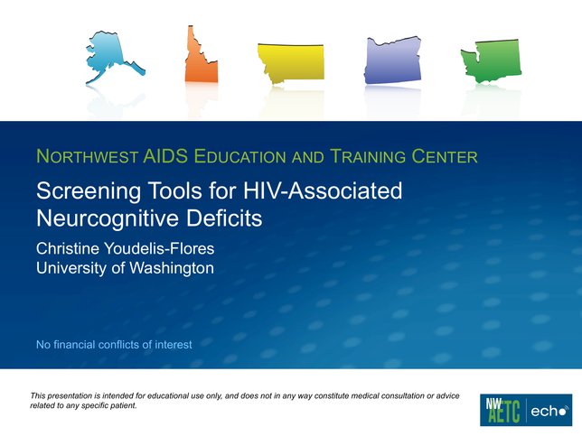 Screening Tools for HIV-Associated Neurocognitive Deficits