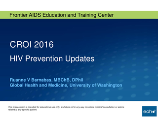 CROI 2016 HIV Prevention Updates