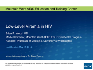 Low-Level Viremia in HIV