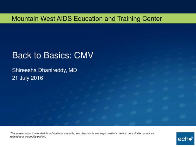 Back to Basics: CMV
