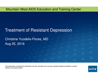 Treatment of Resistant Depression