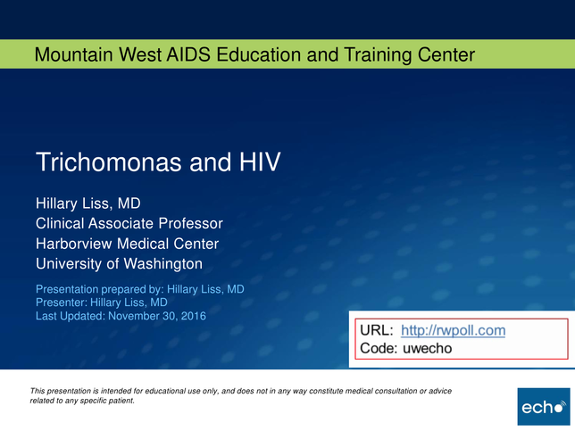 Trichomonas and HIV