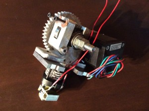 wades gear extruder assembly cast out of recycled scrap 6061 Aluminum