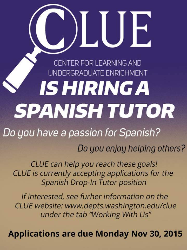 Spanish tutor search sign