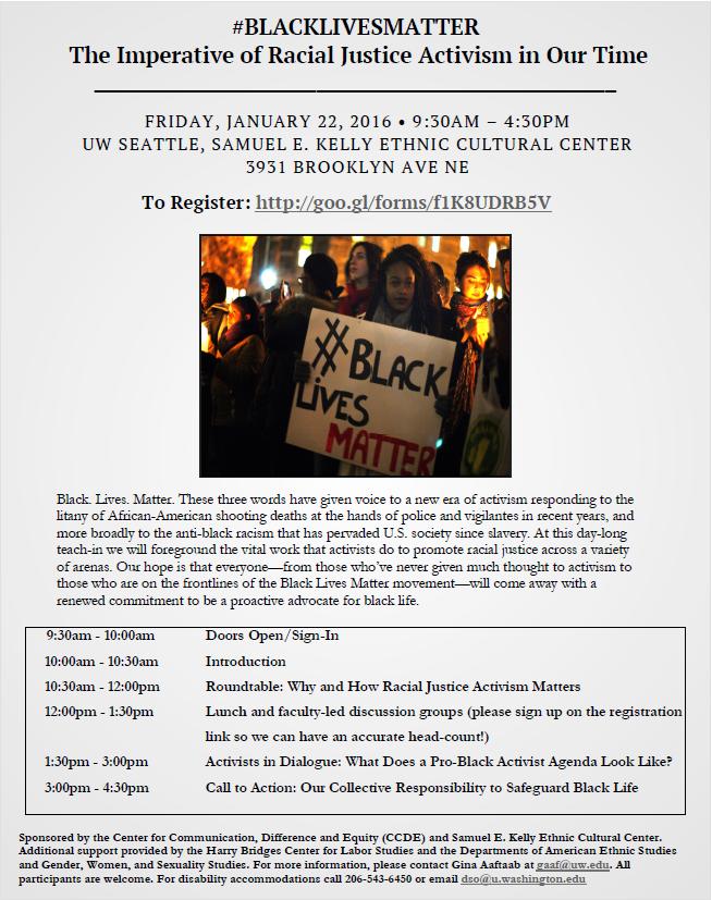 Black Lives Matter - Jan 22 2016