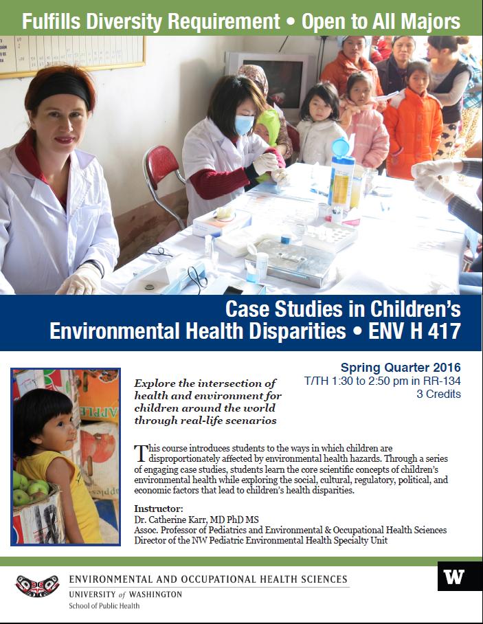 ENV H 417 Childrens health  sp 2016