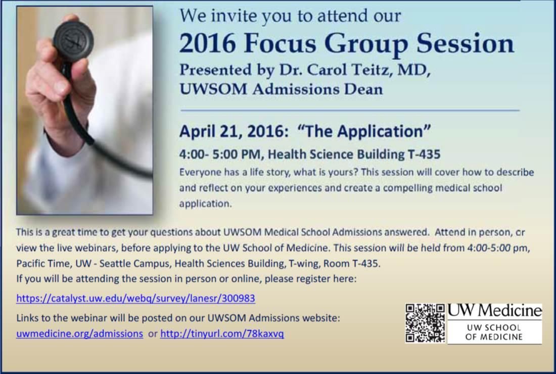 UWSOM focus group april 2016
