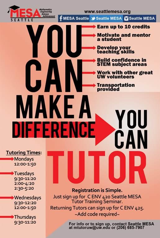 MESA tutor for 2016-17