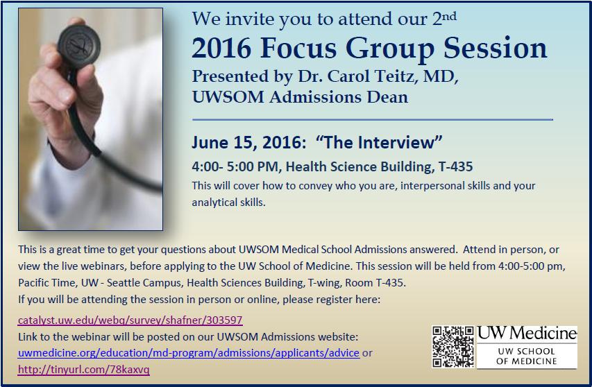 UWSOM 2016 Focus group #2