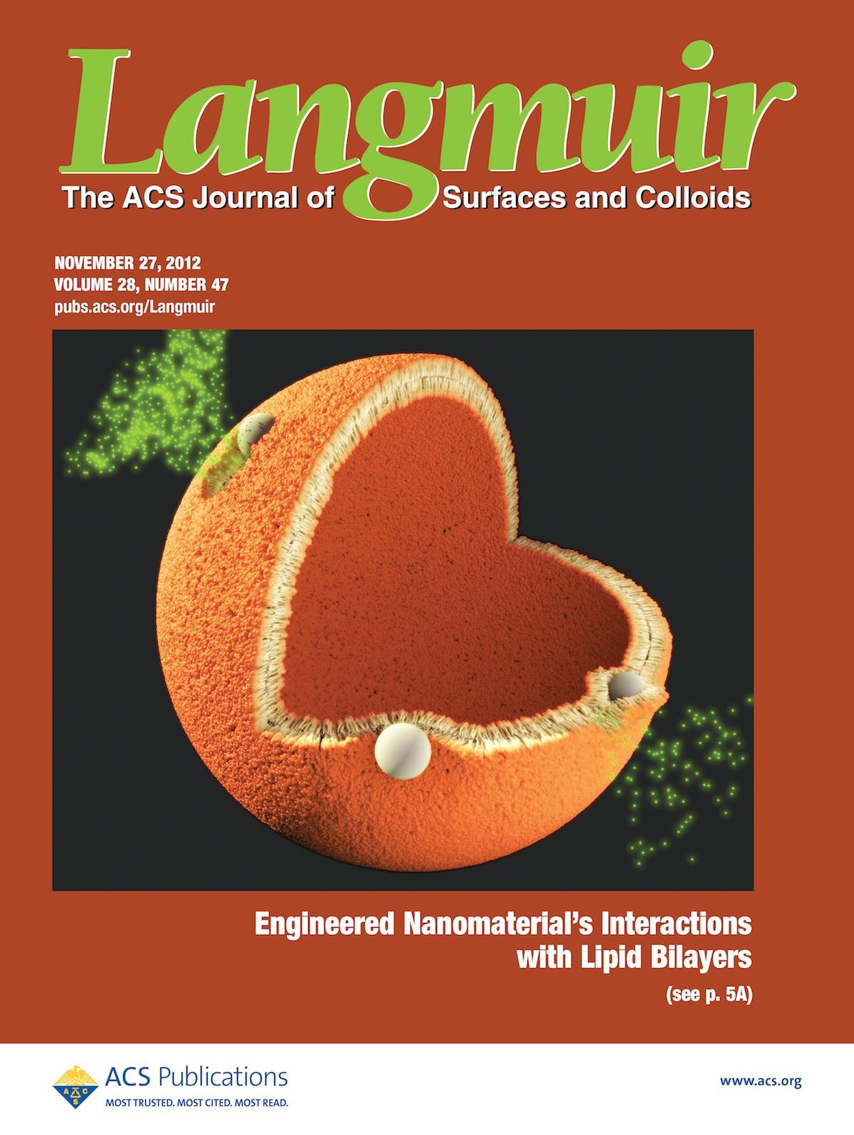 Nov 2012 Cover of Langmuir