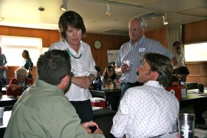 Discussion between attendees at the AHAB stakeholder workshop