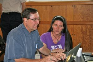 Attendees at the AHAB stakeholder workshop working on laptop