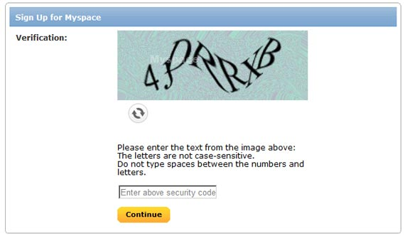 myspace sign up account