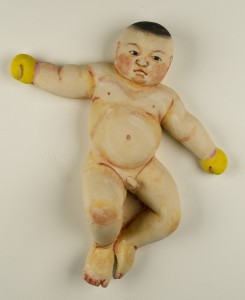 Akio Takamori | Golden Boy, 2012 | 23 x 19 x 6 | stoneware with underglazes