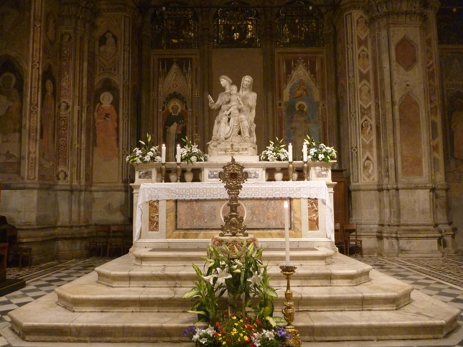 Saint Anne lit flowers in Orsanmichele