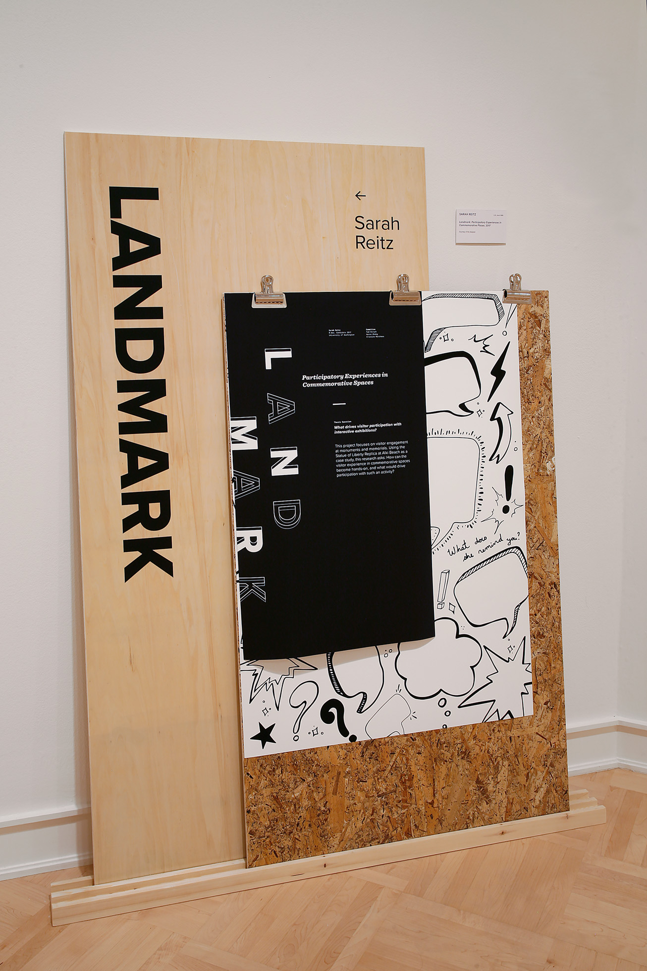 Landmark: Participatory Experiences in Commemorative Places (portion) by Sarah Reitz