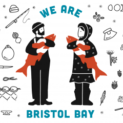 We Are Bristol Bay postcard by Emma Teal Laukitis