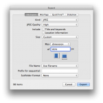 iPhoto 3 - export window