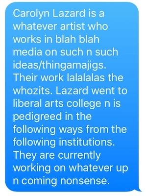 Biography for Carolyn Lazard