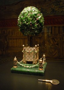 1911 Bay Tree Egg by Fabergé in Vatican Museums exhibit; image courtesy of Levi Higgs