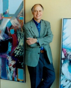Photo of William Ingham in his studio, 2002; image from the artist's website